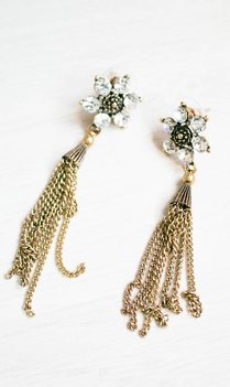 Crystal Tassel Earrings
