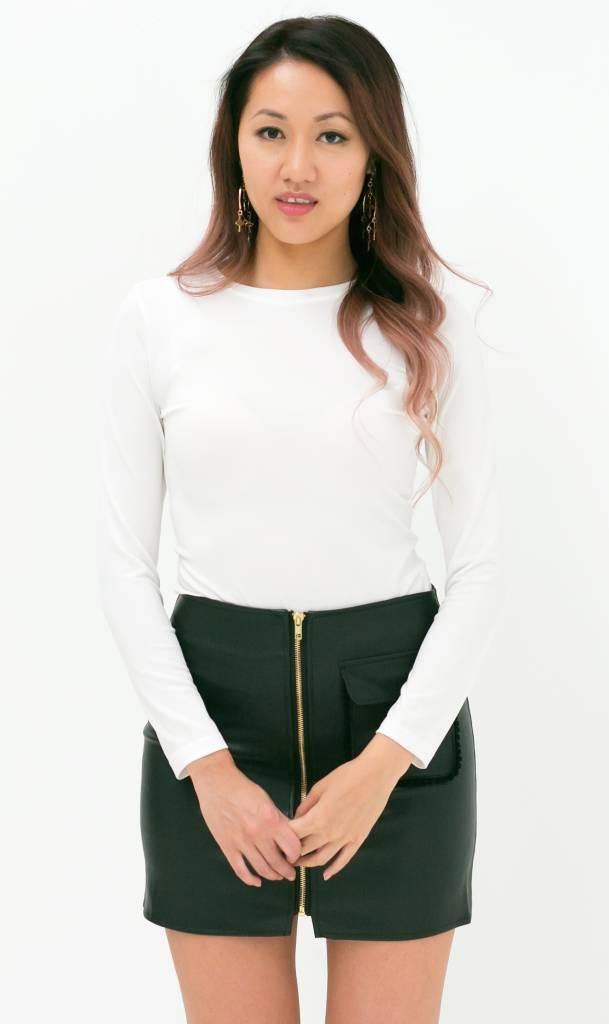 Witte mesh top