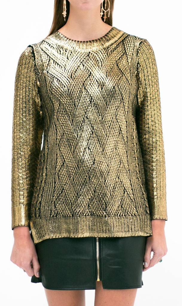Golden Metallic Knit
