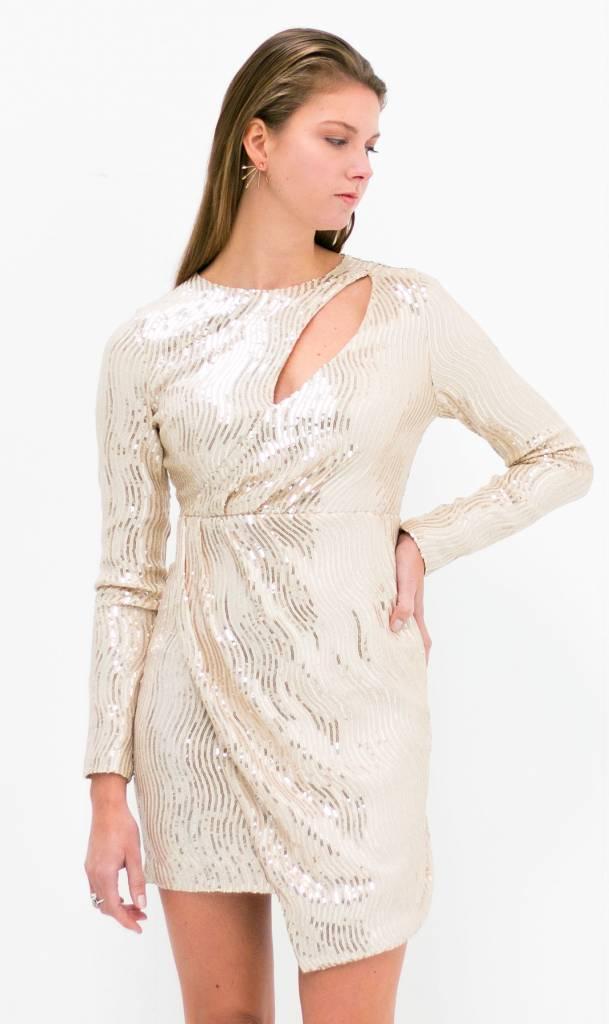 White Gold Sequin Dress
