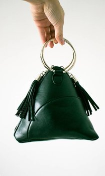 Triangle Bag With Ring Detail