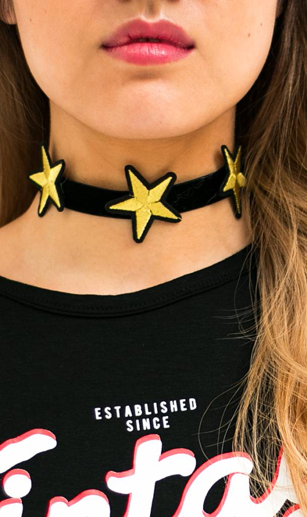 Choker Embroidery Star