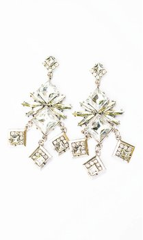 Silver Statement squares earrings