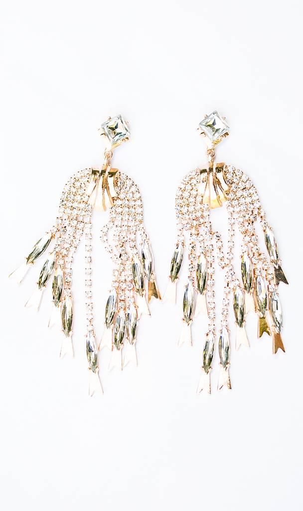 Golden Statement waterfall earrings