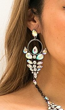 Bohemian silver statement earrings