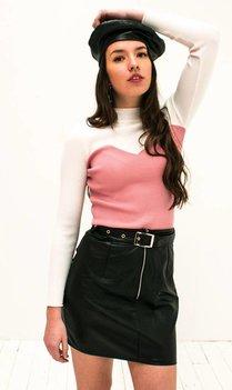 Contrast Top Pink