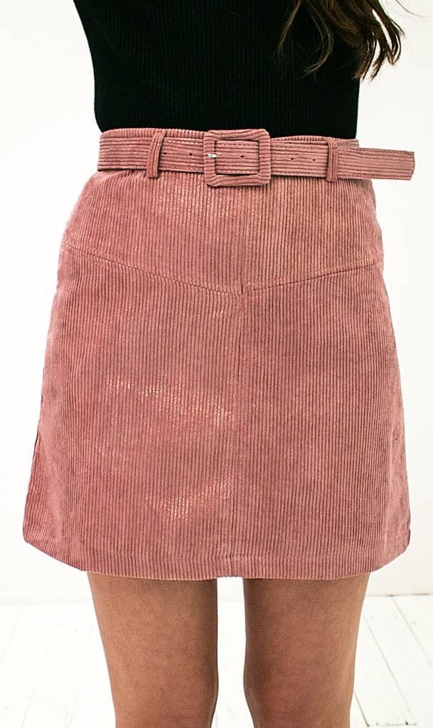 Pink Metallic Skirt