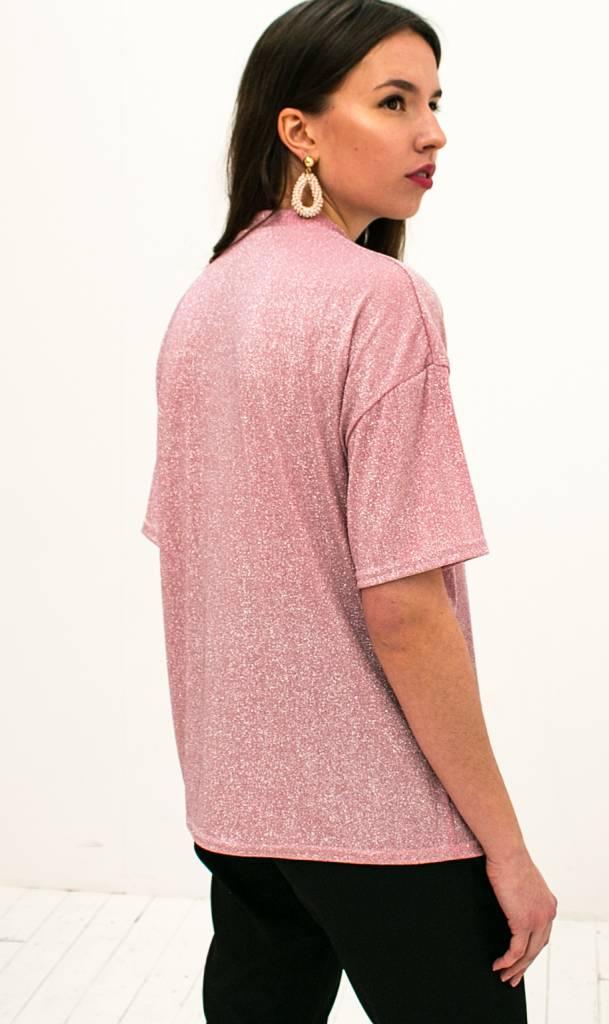 Beroemd Bestel Roze Glitter Tshirt | Musthaves Kleding Webshop Trix La Mix @JE09