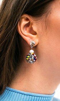 Ronde gekleurde oorbellen
