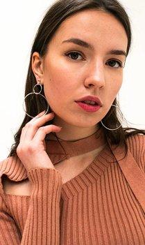 zilveren ronde oorbellen