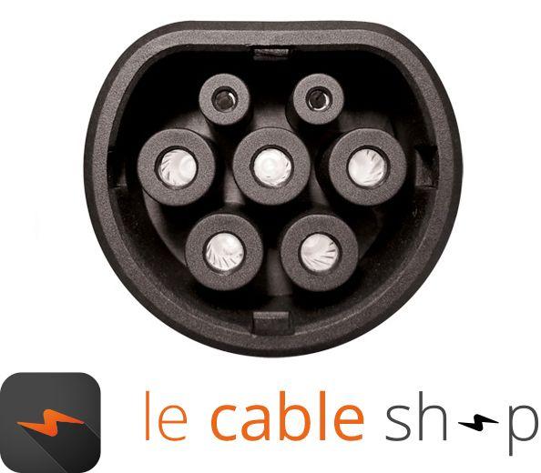 ratio c ble de recharge v hicule lectrique 16a monophas type 3 type 2 4 m tres. Black Bedroom Furniture Sets. Home Design Ideas