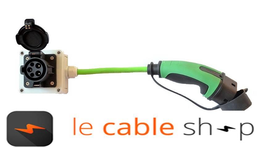 c ble de recharge ratio 16a pour volvo v60 et autres ve le cable shop. Black Bedroom Furniture Sets. Home Design Ideas