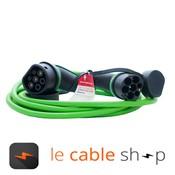 Ratio Câble de recharge véhicule électrique 16A Monophasé Type 2 - Type 2 (4 mètres)