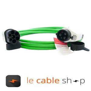 Ratio Câble de recharge véhicule électrique 16A Monophasé Type 2 - Type 1 (4 mètres)