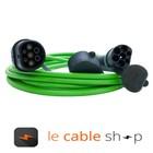 Ratio Câble de recharge véhicule électrique 32A Monophasé Type 2 - Type 2 (6 mètres)