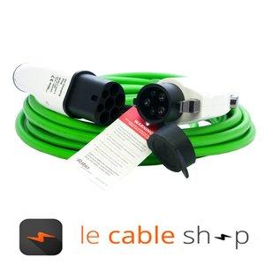 Ratio Câble de recharge véhicule électrique 16A Monophasé Type 2 - Type 1 (6 mètres)