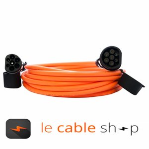 DOSTAR Câble de recharge véhicule électrique 32A Monophasé Type 2 - Type 2 (8 mètres)