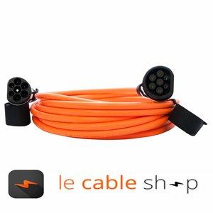 DOSTAR Câble de recharge véhicule électrique 32A Monophasé Type 2 - Type 2 (4 mètres)