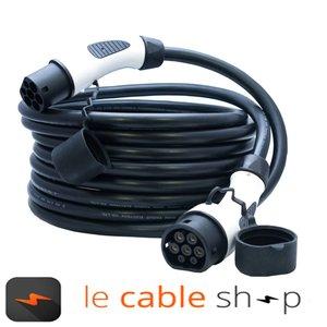 DOSTAR Câble de recharge véhicule électrique 16A Triphasé Type 2 - Type 2 (8 mètres)