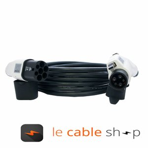 DOSTAR Câble de recharge véhicule électrique 16A Monophasé Type 2 - Type 1 (8 mètres)