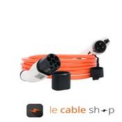DOSTAR Câble de recharge véhicule électrique 16A Monophasé Type 2 - Type 1 (4 mètres)