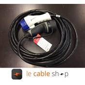 Ratio Câble de recharge véhicule électrique 16A Monophasé Type 3 – Type 1 (4 mètres)
