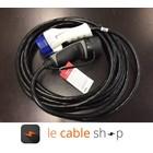 Ratio Câble de recharge véhicule électrique 16A Monophasé Type 3 - Type 2 (4 mètres)