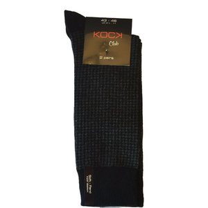Kock Sockswear 2-pack naadloze herensokken print zwart