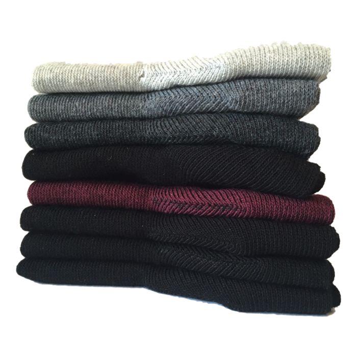 2-pack naadloze damessokken bordeaux-zwart