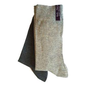 Kock Sockswear 2-pack naadloze damessokken grijs-licht grijs