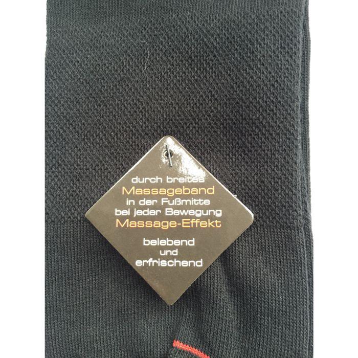 2-pack zwarte naadloze sokken met massage-effect