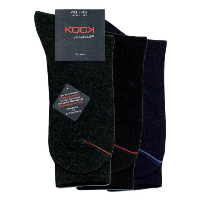 2-pack grijze naadloze sokken met massage-effect