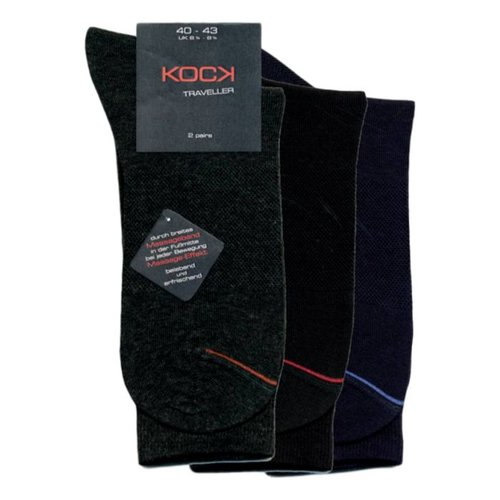 Kock Sockswear 2-pack blauwe naadloze sokken met met massage-effect