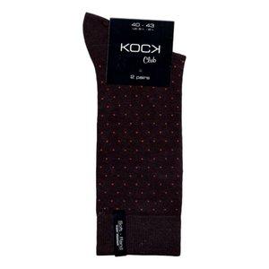 Kock Sockswear 2-pack naadloze herensokken stippen zwart