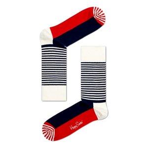 Happy Socks Stripe Half rood/wit/blauw
