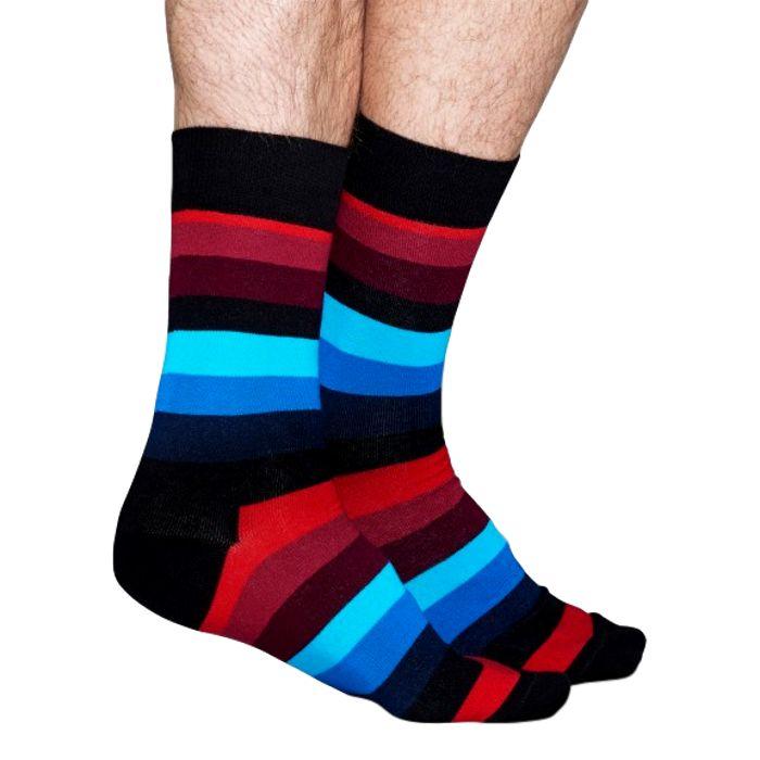 Stripe met zwart, blauw en rood
