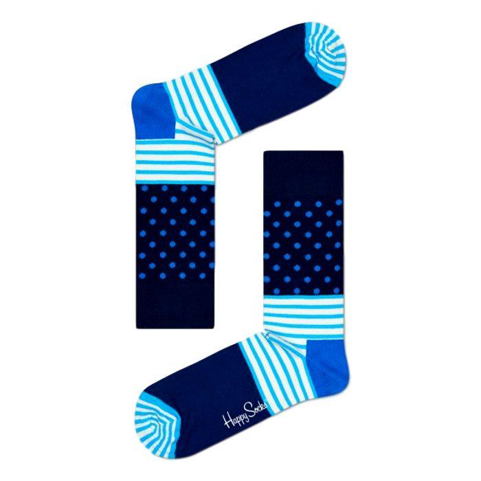 Sokken met strepen en stippen