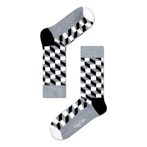 Happy Socks Filled Optic grijs