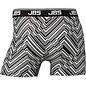 Boxershort van JBS, zwart-wit met zigzag dessin
