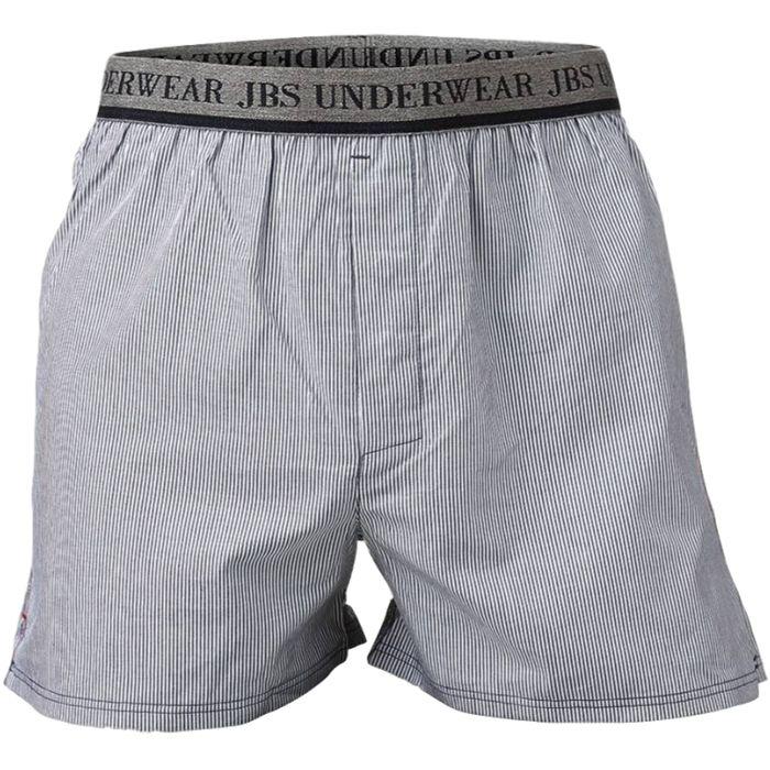Boxershort grijs/wit gestreept