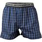 Boxershort van JBS, blauw, grijs en zwart geruit
