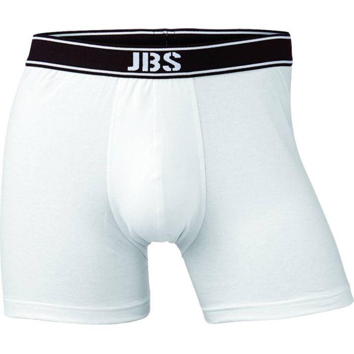 Boxershort van JBS, uni wit van katoen