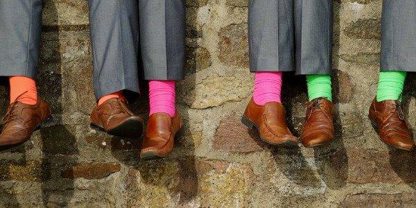 Welke sokken zijn leuk voor op een bruiloft?