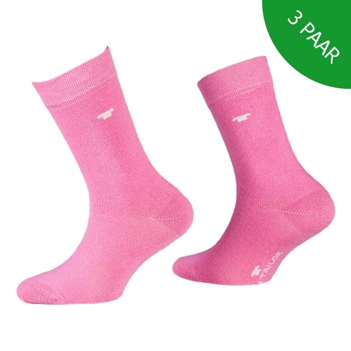 3-pack roze kindersokken