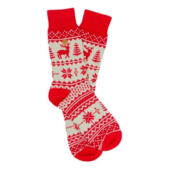 Northern Pixels Reindeer Red/Beige