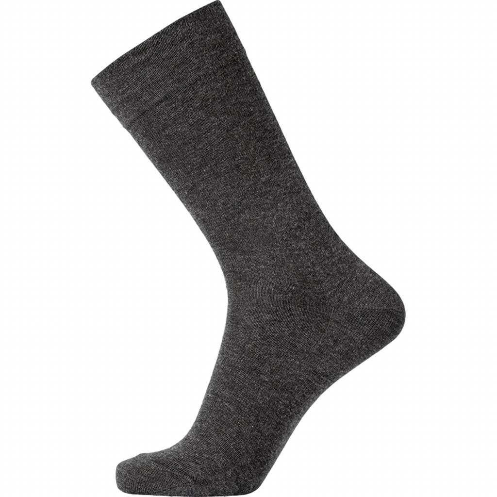 Klassieke sok zonder elastiek in antraciet