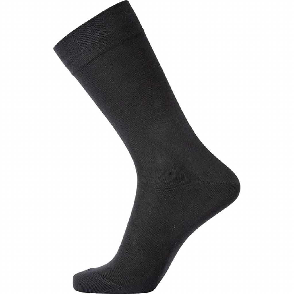 Klassieke sok zonder elastiek zwart