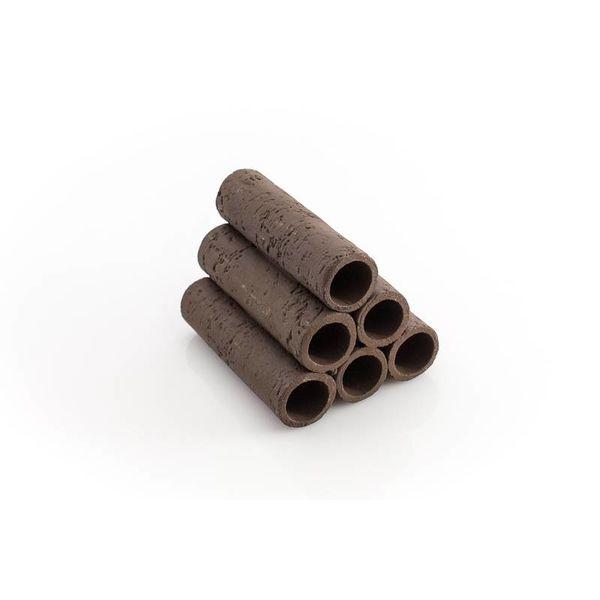 6er Röhrenstapel braun/schwarz mit Muster