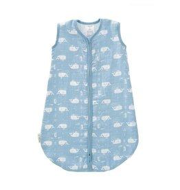 Fresk Muslin sleeping bag Whale soft blue