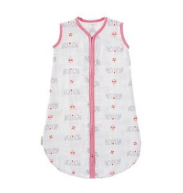 Fresk Muslin sleeping bag Elephant pink